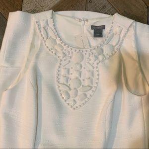 Ann Taylor NWT white embellished dress